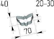 Вырубка Бабочка. Цену уточняйте (т. +375 17 294-03-37, 210-01-48)