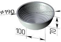 Форма для расстойки (литая алюминиевая, круглая, 190 х 100 х 70 мм). Цену уточняйте (т. +375 17 294-03-37, 210-01-48)