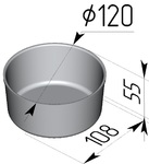 Форма хлебопекарная круглая (литая алюминиевая, 120 х 108 х 55 мм). Цену уточняйте (т. +375 17 294-03-37, 210-01-48)