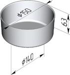 Форма хлебопекарная круглая (литая алюминиевая, 150 х 140 х 63 мм). Цену уточняйте (т. +375 17 294-03-37, 294-01-42)
