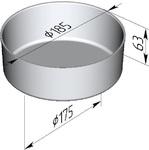 Фома хлебопекарная круглая (литая алюминиевая, 185 х 175 х 63 мм). Цену уточняйте (т. +375 17 294-03-37, 294-01-42)