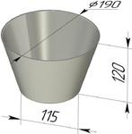 Форма хлебопекарная круглая (литая алюминиевая, 190 х 115 х 120 мм). Цену уточняйте (т. +375 17 294-03-37, 294-01-42)