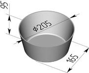 Форма хлебопекарная круглая № 17 (литая алюминиевая, 205 х 165 х 95 мм). Цену уточняйте (т. +375 17 294-03-37, 294-01-42)