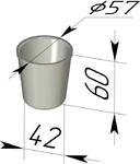 Форма хлебопекарная круглая (литая алюминиевая, 57 х 42 х 60 мм). Цену уточняйте (т. +375 17 294-03-37, 294-01 42)