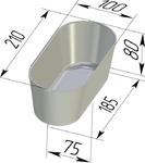 Форма хлебопекарная овальная № 10-2 (литая алюминиевая, 210 х 100 х 80 мм). Цену уточняйте (т. +375 17 294-03-37, 294-01-42)
