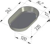 Форма хлебопекарная овальная (литая алюминиевая, 242 х 142 х 37 мм). Цену уточняйте (т. +375 17 294-03-37, 294-01-42)