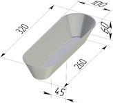 Форма хлебопекарная овальная (литая алюминиевая, 320 х 100 х 60 мм). Цену уточняйте (т. +375 17 294-03-37, 294-01-42)