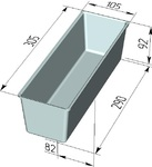 Форма хлебопекарная тостерная (литая алюминиевая, 305 х 105 х 92 мм). Цену уточняйте (т. + 375 17 294-03-37, 294-01-42)