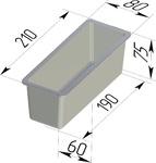 Форма хлебопекарная тостерная (литая алюминиевая, 210 х 80 х 75 мм). Цену уточняйте (т. +375 17 294-03-37, 294-01-42)