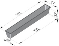 Форма хлебопекарная тостерная (литая алюминиевая, 412 х 53 х 52 мм). Цену уточняйте (т. + 375 17 294-03-37, 294-01-42)