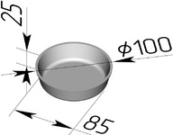 Форма хлебопекарная круглая № 17 Е (литая алюминиевая, 100 х 85 х 25 мм). Цену уточняйте (т. +375 17 294-03-37, 294-01-42)