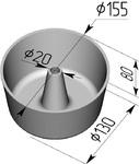 Форма хлебопекарная круглая № 17 Ж (литая алюминиевая, 155 х 130 х 80 мм). Цену уточняйте (т. +375 17 294-03-37, 210-01-48)