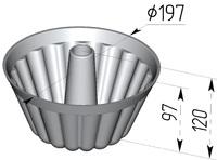 Форма хлебопекарная круглая Кексница (литая алюминиевая, 197 х 97 мм). Цену уточняйте (т. +375 17 294-03-37, 294-01-42)