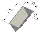 Форма хлебопекарная треугольная (алюминиевая, 224 х 110 х 90 мм). Цену уточняйте (т. +375 17 294-03-37, 294-01-42)