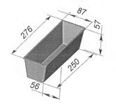 Форма хлебопекарная тостерная (литая алюминиевая, 276х87х57 мм). Цену уточняйте (т. +375 17 294-03-37, 294-01-42)