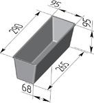 Форма хлебопекарная тостерная (литая алюминиевая, 290 х 95 х 95 мм). Цену уточняйте (т. +375 17 294-03-37, 294-01-42)