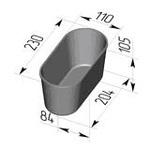 Форма хлебопекарная овальная № 7 ст (литая алюминиевая, 230 х 110 х 105 мм). Цену уточняйте (т. +375 17 294-03-37, 210-01-48)