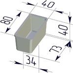 Форма хлебопекарная прямоугольная № 12-4 (литая алюминиевая, 80 х 40 х 40 мм). Цену уточняйте (т. +375 17 294-03-37, 210-01-48)