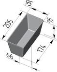 Форма хлебопекарная прямоугольная № 10-2 (литая алюминиевая, 205 х 95 х 95 мм). Цену уточняйте (т. +375 17 294-03-37, 210-01-48)