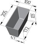 Форма хлебопекарная прямоугольная № 10-3 (литая алюминиевая, 205 х 100 х 105 мм). Цену уточняйте (т. +375 17 294-03-37, 210-01-48)
