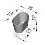 Форма хлебопекарная овальная № 11 (литая алюминиевая, 150 х 95 х 100 мм). Цену уточняйте (т. +375 17 294-03-37, 294-01-42)