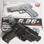 Cтрайкбольный пистолет Galaxy G.26+, Sis Sauer P226, черный, в комплекте кобура