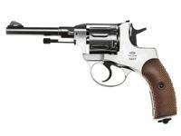 Револьвер пневматический Gletcher NGT Silver, серебристый, пистолет, пневматика