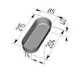 Форма хлебопекарная овальная № 7-1 (литая алюминиевая, 215 х 85 х 40 мм). Цену уточняйте (т. +375 17 294-03-37, 294-01-42)